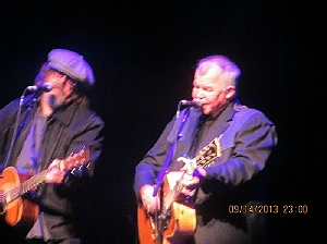 Peter Case and John Prine doing Paradise at the Paramount Theatre in Cedar Rapids Iowa