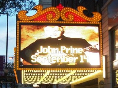 John Prine September 14, 2013 Cedar Rapids Paramount Theatre Marquee photo credit by Mark Sannes