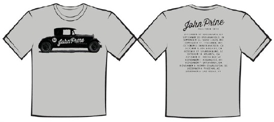 John Prine 2014 fall tee shirt  click to purchase